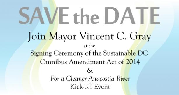Omnibus Amendment Act Signing Ceremony & Anacostia River Kick-off Event